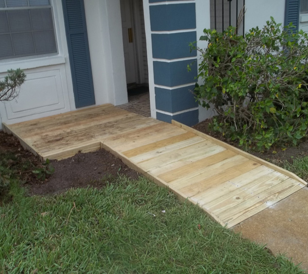 low profile ramp wood