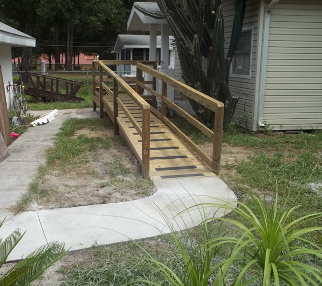 front path mobility ramp